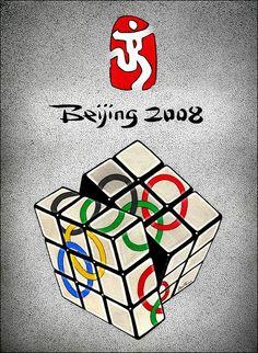 Beijing 2008 Olympics Rubik's cube poster