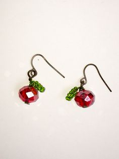 Adorable Apple Tree earrings - custom designed and hand made for us!  Follow @appletreemovie on Twitter to find out how to win for FREE!