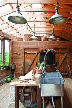 Michael Blum's potting shed.