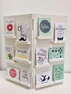 DIY Kaartenrek, kaartenstandaard, handmade, Interieurkaarten, kinderkaarten, verjaardagskaarten Www.mousie.nl