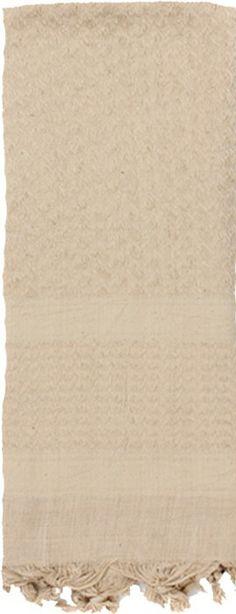 Tan Solid Shemagh Heavyweight Arab Tactical Desert Keffiyeh Scarf | 8637 TAN | $9.99