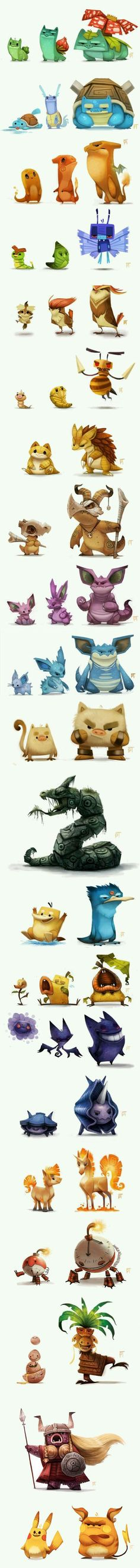 Insane Pokemon art (By Piper Thibodeau)