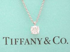 Tiffany co platinum 100ct i vvs1 lucida diamond solitaire pendant tiffany co platinum solitaire diamond im thinking my b day present to myself this year cant afford the name but much more affordable to have my aloadofball Images