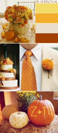 A Traditional and Romantic Take on Fall Wedding Colors - My Wedding Reception Ideas | Blog
