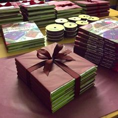 Giftwrapped books by Jane Means