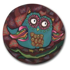 Blue Owl Polymer Clay Cane Silly Milly Large