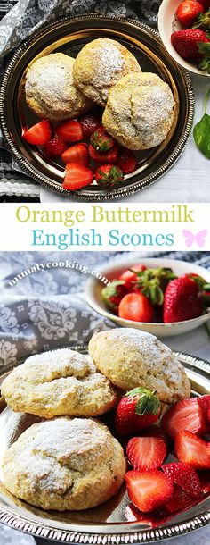 Orange Buttermilk English Scones, a recipe that is simple and flavorful. These scones are light and moist from the inside, with slight crunch from the outside, and are best served with cream and jam. #dessert #breakfast