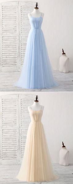 Simple blue chiffon long halter sweet 16 prom dress, evening dress #prom #dress #promdress #promdresses Deb Dresses, Special Dresses, Dressy Dresses, Lovely Dresses, Ball Dresses, Beautiful Gowns, Ball Gowns, Flower Girl Dresses, Dress Prom