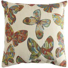 Pier 1 Imports Summer Bloom Butterfly Pillow