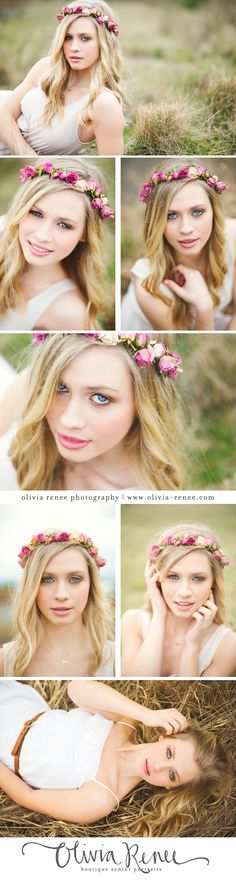 Floral Crowns / Floral Prop Idea for group shoot Senior Portraits Girl, Senior Girl Photography, Senior Photos Girls, Senior Girl Poses, Outdoor Photography, Portrait Photography, Senior Girls, Catholic High, Glamour Photo
