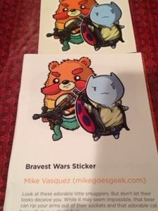 Adorable Bravest wars sticker @Loot Crate  #subscriptionbox review amazing box