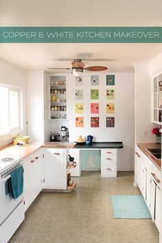 Squirrelly Minds » Home | Copper and White Kitchen Makeover Reveal