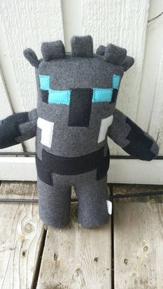 Popular mmo is a charactor in minecraft. Usually associated with gaming with jen Listing is for one plush item. 14 in tall 7 in wide 4 in deep Comes