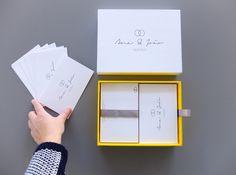 Handmade box with thank you cards How To Make Box, Your Cards, Thank You Cards, Messages, Graphic Design, Frame, Handmade, Wedding, Decor