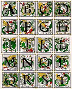 Heritage Crafts-Dragon Alphabet More