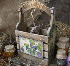 """Купить Деревянный короб для вина и масла""""Сливовая веточка"""" - короб для вина, короб для масла, деревянный короб"""