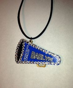My new blinged out style Cheerleader Cheerleading Cheer Pendant by sherrollsdesigns on Etsy, $14.00