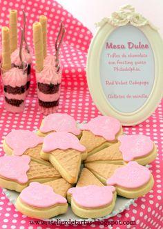 Mesa dulce cumpleaños personalizada helado fiesta # ice cream sweet dessert table party