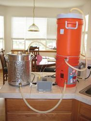 Home brewing electric counter top brewing system; featured on www.byo.com #homebrewingequipment