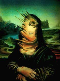 """""""Pintura de Espejo (La Monalisa explosiva)"""", óleo, 1996"""