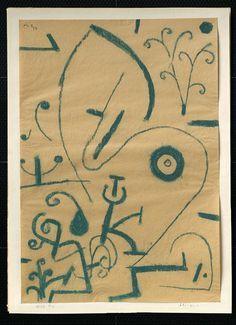 Paul Klee 'Flourishing' 1937 Pastel on paper on cardboard .497m x .348m