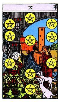 10 de Oros, Significado de las cartas del Tarot