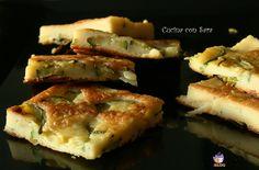 Frittata di ceci con zucchine.Da qualche mese l'Esselunga regala una rivista mensile di cucina e si trovano sempre delle ricette interessanti.