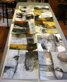 Well, the finished pieces are layered and layered and layered, so they are more paintings than prints. The deli paper prints are the beginn...