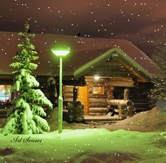 cabin in the snow gif