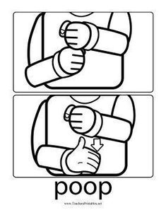Parents who are toilet-training toddlers can use this printable sign language chart to teach the word #signlanguagechart