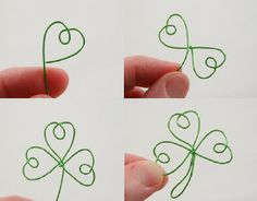 How to make a shamrock. Totally gonna try to make this!