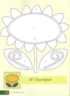 Varios modelos de flores para aplicación Applique Quilt Patterns, Applique Templates, Felt Applique, Applique Designs, Embroidery Applique, Embroidery Patterns, Flower Applique, Sunflower Quilts, Wool Quilts