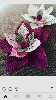 Needle Lace, Knots, Needlework, Diy And Crafts, Projects To Try, Model, Handmade, Ribbon Flower, Lace