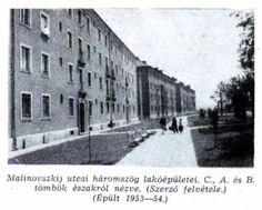 Malinovszkij utcai lakótömb 3. tömb  fotó: ifj. Horváth Béla forrás: Borsodi Műszaki Élet 1957 okt.