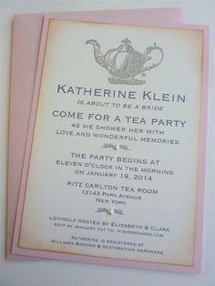 Bridal Shower Tea Party Invitation Vintage Silver by ifiwerecards, $35.00