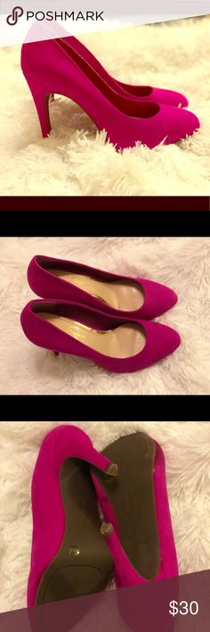 4in Magenta Suede Heels Wore only for a few hours. AMAZING color! Got so many compliments. Jessica Simpson Shoes Heels