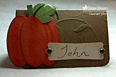 Thanksgiving Placecard - Stampin' Up!