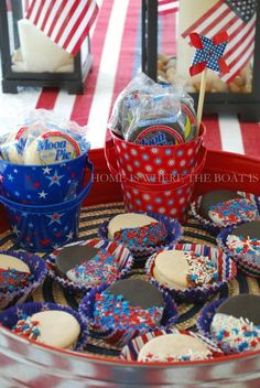 Patriotic Mini Moon Pies from Home Is Where the Boat Is