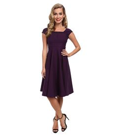 Stop Staring! Swing Dress with Lace Detail At Top Egg Plant - Zappos.com Free Shipping BOTH Ways