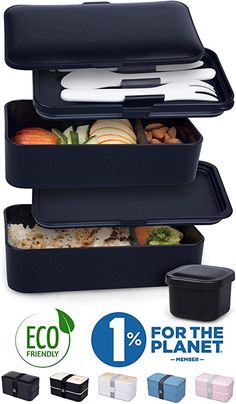 AmazonSmile: UMAMI Premium Bento Lunch Box For Adults/Children - Includes 1 Sauce Pot & Cutlery 3 Pieces - Japanese Hermetic Box - 2 Compartments - Micro-Waves & Dishwasher & Freezer - BPA Free - Zero Waste: Kitchen & Dining Lunch Snacks, Bento Box Lunch, Lunch Boxes For Men, Adult Lunch Box, Lunch Box Containers, Food Storage Containers, Tupperware, Boite A Lunch, Eating Clean