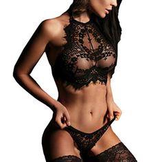 978be63b20 TWGONE Women Sexy Lingerie Lace Flowers Push up Top Bra Pants Underwear Set  Temptation Underwear Lingerie