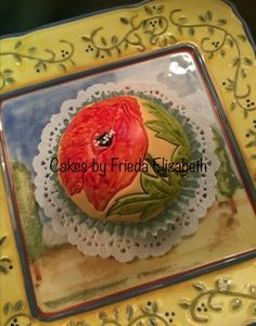 Painted poppy cupcakes