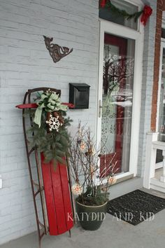 Top 40 Sleigh/ Sled Decoration Ideas For ChristmasDoes anything scream Christmas more than a sleigh or sled? Nothing, right! Sleighs or sleds are a great way to give your house a country theme. You just need to select a rustic sled and embellish them. Display the sled