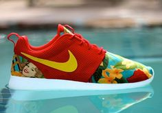 The Nike Roshe Run is one of the more custom ready sneakers out there. The mesh of the upper provides a pretty blank canvas and the initial investment is pretty small given the awesome $70 price tag. This time around we see the sport red version of the sneaker remixed with a yellow Swoosh across [&hellip