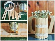 diy and creatividad 圖片 – DIY Home Decor Popsicle Stick Crafts, Craft Stick Crafts, Diy Para A Casa, Diy For Kids, Crafts For Kids, Diy Home Crafts, Diy Art, Diy Tutorial, Diy Room Decor