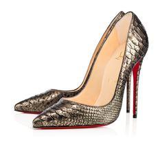 CHRISTIAN LOUBOUTIN SO KATE PYTHON CUIRASSE 120 BRONZE Python - Women Shoes - Christian Louboutin. #christianlouboutin #shoes #