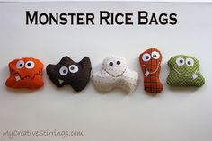 "Monster Rice Bags, ""Monster Under The Bed"" Theme from MyCreativeStirrings"