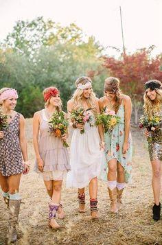 Festival inspired wedding ideas