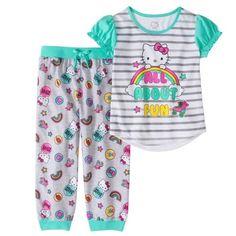 Plus Size Hello Kitty Girls' Jogger Capri Pajama Set, Size: Kids 4 Plus, Blue Hello Kitty Clothes, Hello Kitty Shoes, Hello Kitty Bag, Toddler Outfits, Kids Outfits, Girls Capris, Hello Kitty Collection, Sleepwear Sets, Ragdoll Kittens