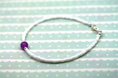 Summer Stone Bracelets  Mauve Jade Made to by twinklejewellery, £8.00  Made to measure